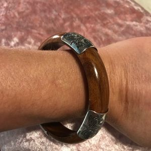 SILPADA Wood/Sterling Bangle